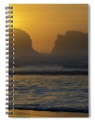 Rockaway Beach Oregon Turning The Sky To Gold Spiral Notebook