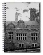 Rockefeller Hall - Bryn Mawr In Black And White Spiral Notebook