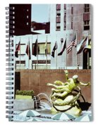 Prometheus Rockefeller Plaza 1950 Spiral Notebook