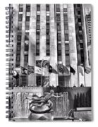 Rockefeller Center Black And White Spiral Notebook