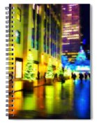 Rockefeller Center Christmas Trees - Holiday And Christmas Card Spiral Notebook