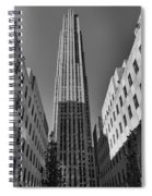 Ge Building In Black And White Spiral Notebook