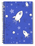 Rocket Science Dark Blue Spiral Notebook