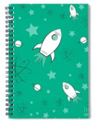 Rocket Science Green Spiral Notebook