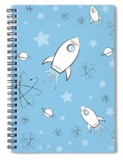 Rocket Science Light Blue Spiral Notebook