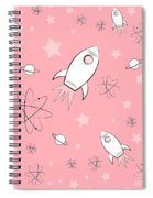 Rocket Science Pink Spiral Notebook