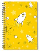 Rocket Science Yellow Spiral Notebook