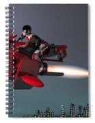 Rocket Scooter Spiral Notebook