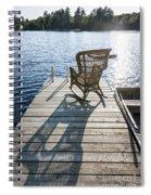 Rocking Chair On Dock Spiral Notebook