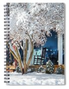 Rocking Chair On Porch In Winter Spiral Notebook