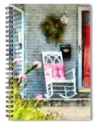Rocking Chair With Pink Pillow Spiral Notebook