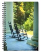 Rocking Chairs And Columns Spiral Notebook