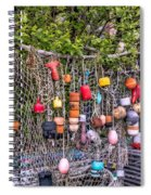 Rockport Fishing Net And Buoys Spiral Notebook