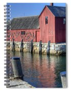 Rockport Fishing Village Spiral Notebook