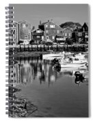 Rockport Harbor - Bw Spiral Notebook