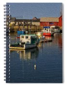Rockport Harbor No.3 Spiral Notebook
