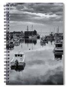 Rockport Harbor View - Bw Spiral Notebook