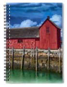 Rockports Motif Number 1 Painting Spiral Notebook