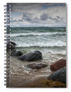 Rocks And Waves At Wilderness Park In Sturgeon Bay Spiral Notebook