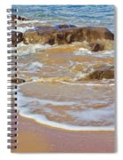 Rocks And Waves Spiral Notebook