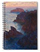 Rocks At Belle Ile Spiral Notebook