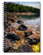 Rocks At Shore Of Georgian Bay Spiral Notebook