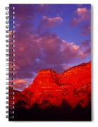 Rocks At Sunset Sedona Az Usa Spiral Notebook