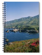 Rocks In The Sea, Carmel, California Spiral Notebook