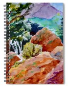 Rocks Near Red Feather Spiral Notebook