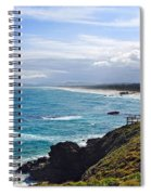 Rocks Ocean Surf And Sun Spiral Notebook