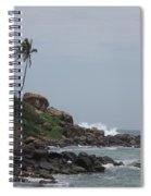 Rocks Of Kovalam Beach Kerala Spiral Notebook