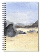 Rocks On Beach Spiral Notebook