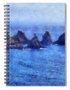 Rocks On Isle Of Guernsey Spiral Notebook