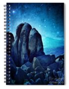 Rocky Cliff In Starlight Spiral Notebook