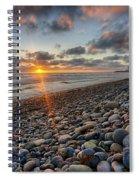 Rocky Coast Sunset Spiral Notebook