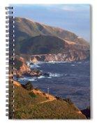 Rocky Creek Bridge In Big Sur Spiral Notebook