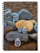 Rocky Faces In The Sand Spiral Notebook