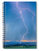 Rocky Mountain Foothills Lightning Strikes 2 Hdr Spiral Notebook
