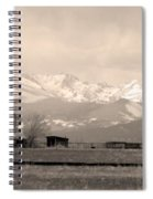 Rocky Mountain Lafayette Sepia Views Spiral Notebook