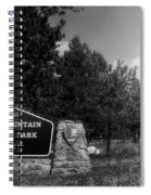 Rocky Mountain National Park Signage Spiral Notebook