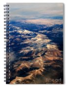 Rocky Mountain Peaks From Above Spiral Notebook