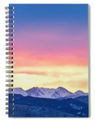 Rocky Mountain Sunset Clouds Burning Layers  Panorama Spiral Notebook
