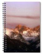 Rocky Mountain Sunset Spiral Notebook