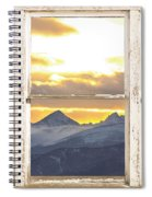 Rocky Mountain Sunset White Rustic Farm House Window View Spiral Notebook
