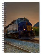 Rocky Mountaineer Sunrise Spiral Notebook