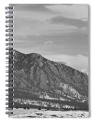 Rocky Mountains Flatirons And Longs Peak Panorama  2 Spiral Notebook