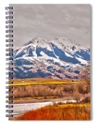 Rocky Mountains In Montana Spiral Notebook