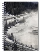 Rocky Mountains In Winter Spiral Notebook