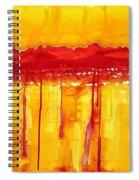 Rocky Mountains Original Painting Spiral Notebook
