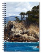 Rocky Outcropping At Point Lobos Spiral Notebook